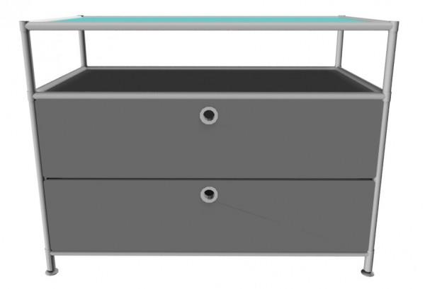 System4 Sideboard mit Schubladen von viasit