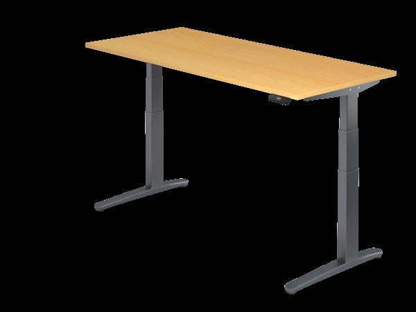Sitz-Steh-Schreibtisch 180x80 von Hammerbacher