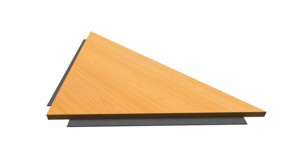 Verkettungswinkel eckig 80x80cm für H und Q-Serie von Hammerbacher