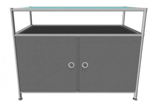 System4 Sideboard mit Doppeltür und Glasablage von viasit